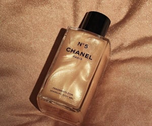 cosmetics, chanel, and gold image