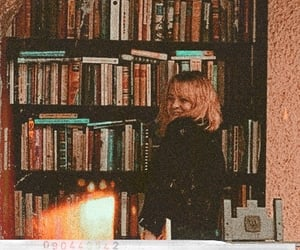 aesthetic, books, and orange image