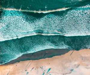 blue, sea, and drone photography image
