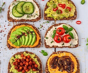 food, sandwich, and vegetables image