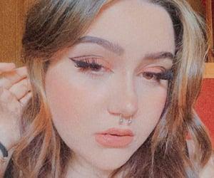 brown eyes, girls, and makeup image