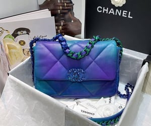 accessories, blue, and bag image