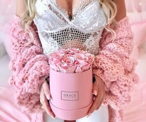 beauty, pink, and pretty in pink image