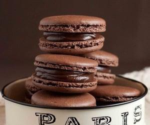 chocolate, sweets, and macarons image