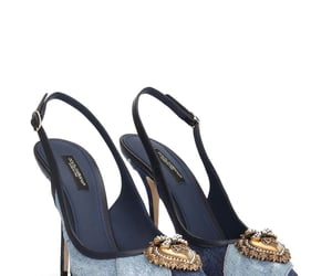 dolce&gabbana, denim, and pumps image