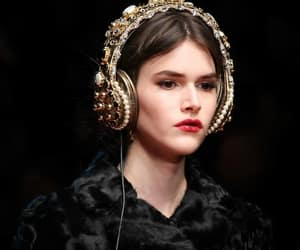 chic, Dolce & Gabbana, and hair style image