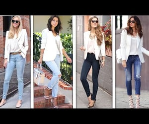 blazers, jeans, and love image
