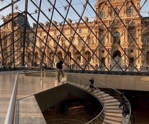 architecture, museum, and paris image