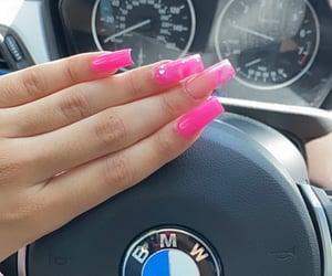 acrylics, girl, and nails image