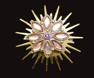 Starburst Brooch With Orange Pink Marquis Rhinestones and a image 0