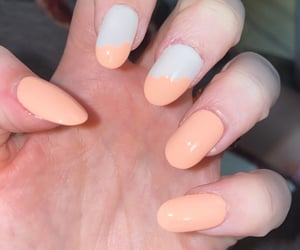 fashion, rainbow nails, and neon nails image