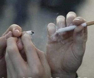 cigarette, smoke, and grunge image