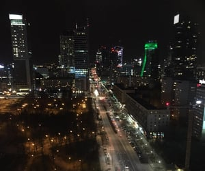 city, warsaw, and citylights image