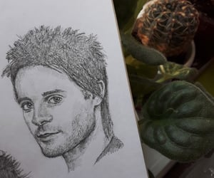 drawing, fanart, and jared leto image