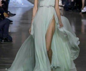 blue dress, Couture, and fashion image