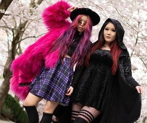 goth girls, japanese hanami goth, and gothic asian girls image