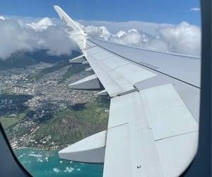airplane, hawaii, and photography image