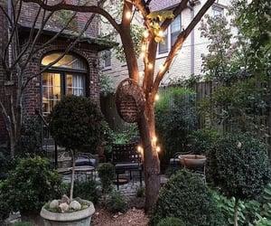 backyard, romantic, and lighting image