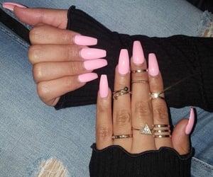 acrylics, fake nails, and baddie image