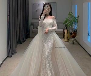 pure, wedding dress, and white image