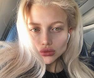 blonde, cheekbones, and goddess image