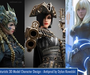 3d modeling, futuristic 3d model, and 3d image