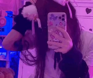 cat ears, hello kitty, and purple image