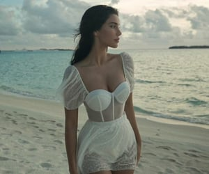 beach, clothes, and see through image