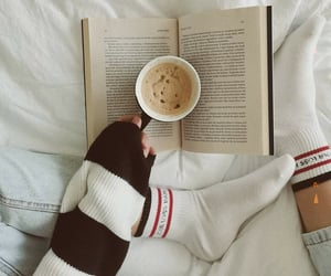 bed, book, and books image