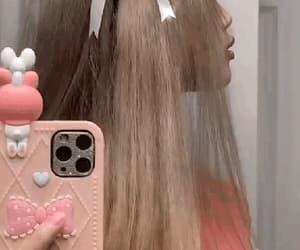gif, girl, and mirror image