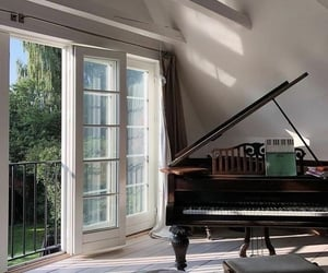 home, piano, and interior image