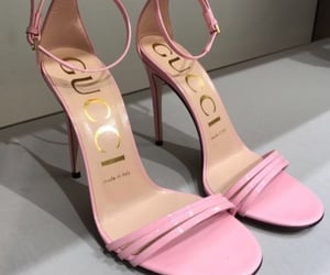 pink, gucci, and heels image