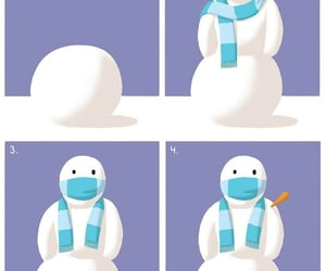 arte, divertido, and snowman image