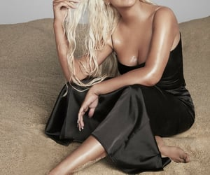 christina aguilera, hair, and sand image