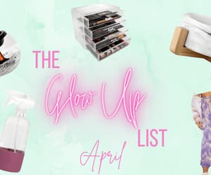 lifestyle blog, glow up, and favorite products image