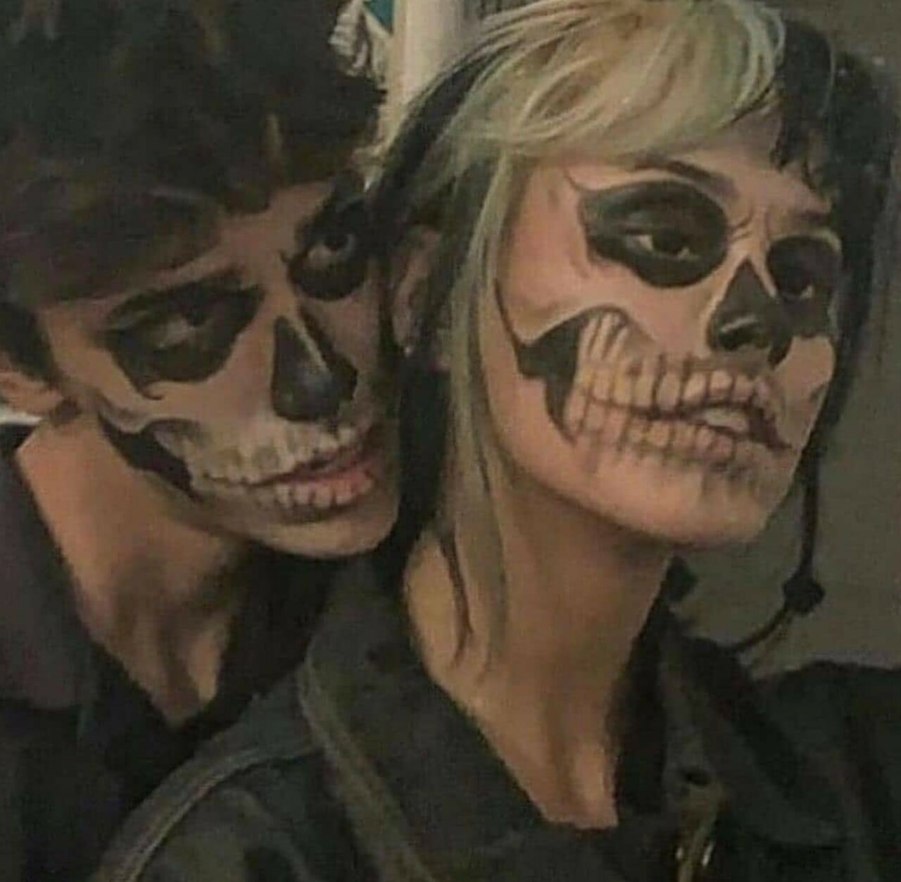 make up, love, and skull image