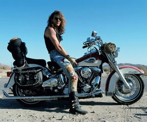 80s, heavy metal, and motorcycle image