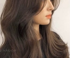 brown, hairstyle, and korean image