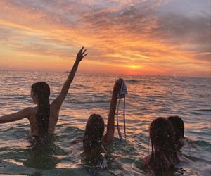 bikini, girl, and sea image