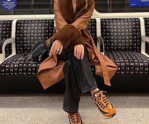 city life, faux fur, and subway image