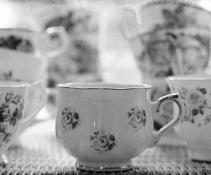 gray, lovely, and teacup image