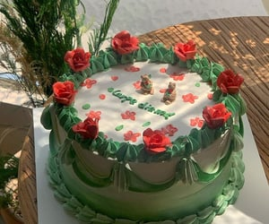 birthday, cake, and green image