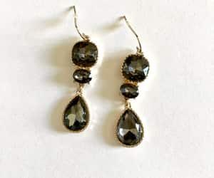 accessories, drop earrings, and long dangle earrings image