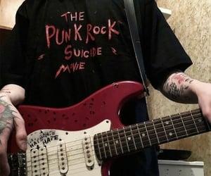 rock, dark, and guitar image