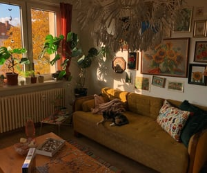 interior, plants, and room image