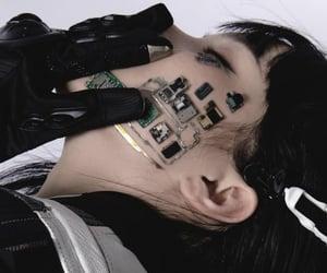 black, cyberpunk, and white image