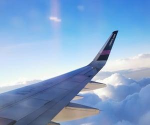 airplane, aviation, and beautiful image