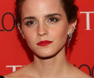actress, brown eyes, and earrings image
