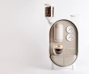 coffee maker, kawaii, and espresso machine image