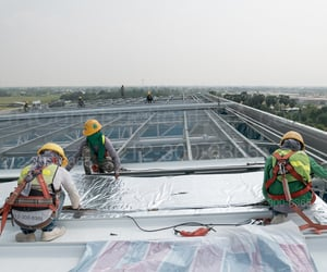 roof, roofing contractor, and flat roof repair image